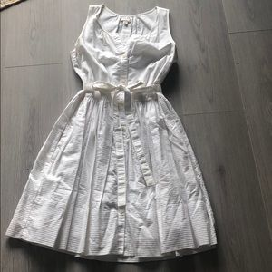Gap sleeveless button up dress with belt